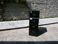 Steel four draw filing cabinet