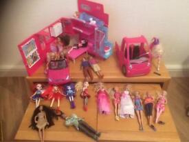 Barbies and Barbie Car