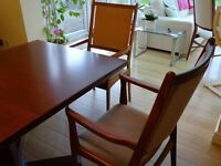 Two Danish, Skovby rosewood carver dining chairs