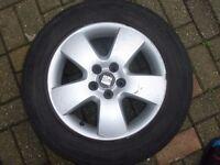 Seat Leon Alloy Wheels 5x100 Fit Vw Golf Audi Skoda Etc 195/65/15 tyres
