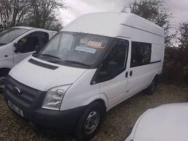 2012 Transit crew van lwb high top 6 seater £5995 +