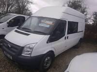 2012 Transit crew van lwb high top 6 seater £5995 +
