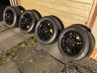 "17"" BMW Black Winter Wheels with Winter tyres for BMW - Excellent condition"