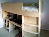 High Sleeper single cabin bed in very good condition