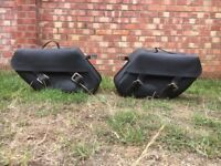 Harley Davidson Saddle bags Genuine Kentucky leather bags and mount brackets