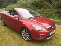 FOCUS CC CABRIOLET 2.0 09 REG IN VOLCANO RED, 61,400 MILES WITH FULL SERVICE HISTORY AND 1 OWNER