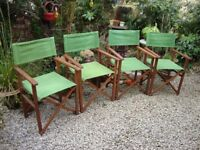 Four Hardwood Director's Chairs,