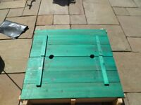 Tp wooden bench sand pit