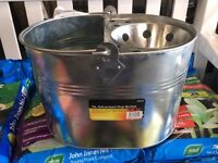 Galvanized mop bucket