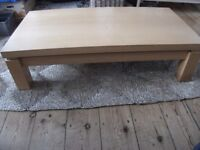 REDUCED Cargo beech chunky rectangular coffee table