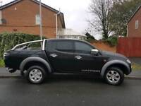 2006. Mitsubishi L200 Warrior model. New shape. Full black leather. NO VAT!!