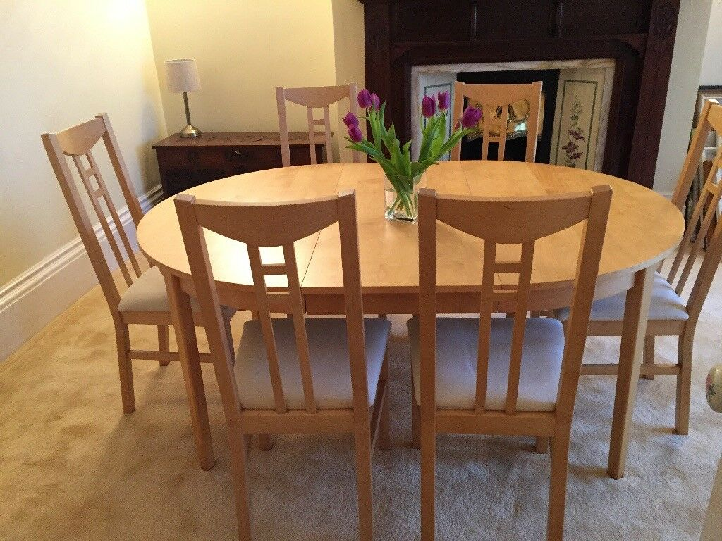 IKEA Extendable Dining Table and Six Chairs | in South ...