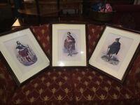Appealing Antique R.R. McIan Scotsman Scottish Clan Highlander Framed Prints x3