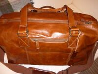Gents soft tan leather John Rocha holdall