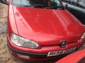 1998 Peugeot 106 Look 2 5dr Hatchback Petrol 1.2L Red BREAKING FOR SPARES