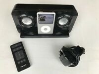 BLACK INTEMPO iPod DOCK Model IDS05B + ORIGINAL REMOTE CONTROL + POWER SUPPLY