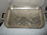 Silver Plated Footed Tray.