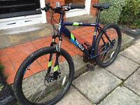 "Men's Apollo paradox mountain bike 21 speed shimano gears 27.5"" Kenda tyres"