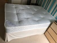 Canvas Double Bed and Mattress
