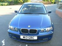 BMW 3 series e46 COMPACT SE 316ti Topaz blue 2002 Private Plate