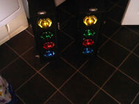 pair of disco lights