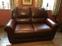 Leather 2 Seater Settee and Armchair.