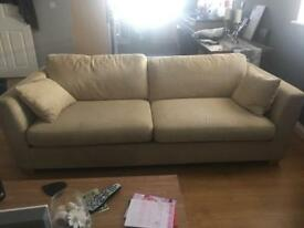 2x 4 seater sofas xtra large deep seats