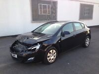 2011 VAUXHALL ASTRA EXCLUSIV 1.6 AUTOMATIC 5 DOOR BLACK DAMAGED SALVAGE REPAIRABLE