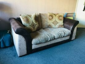 Sofa Bed, (Brown-Fabric )