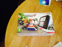 Nintendo 2ds with Mario Kart pre-installed- Brand new- black & blue
