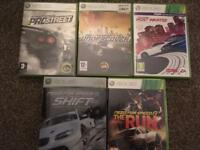 Bundle of Need for Speed Xbox 360 games