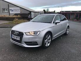 Audi A3 Sport Auto Vandalised