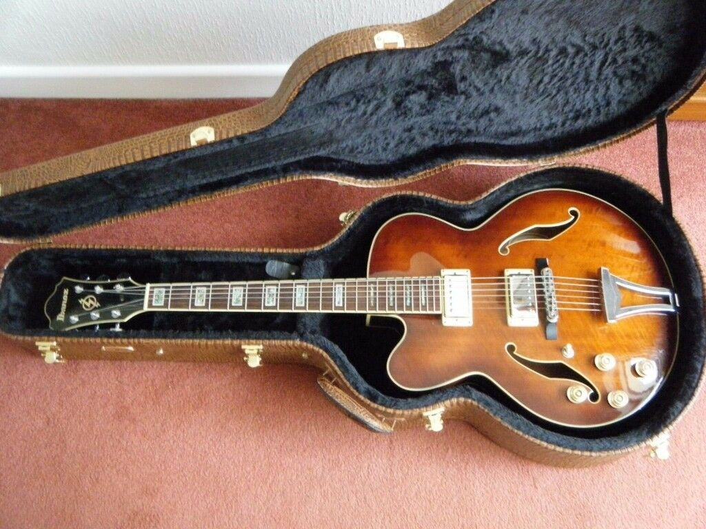 Left Handed Ibanez Artcore Semi Hollow Jazz Guitar In