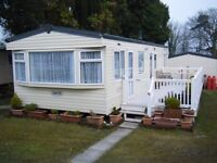 Lovely double glazed 2 bedroom caravan on quiet site in rural location with good road links.