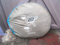 2 person pop up tent comes with its own bag with straps that can be carried on your back