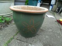 Medium Ceramic Garden Pot with Drainage Hole-weighs 4.7kg,Collect