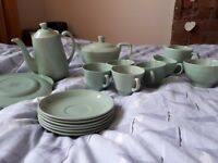 "Woods ware ""Beryl"" vintage green tea set."
