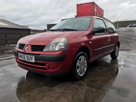 Renault Clio 12 Months MOT Comes With Fresh Service, Fresh Timing Belt Kit Full Service History!!