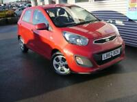 KIA PICANTO 1.0 1 5d 68 BHP **UP TO 67 MPG** (red) 2012