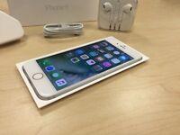 Boxed Silver Apple iPhone 6 16 GB On O2 / GiffGaff / Tesco Networks + Warranty