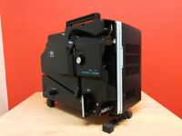 Elmo 16-CL Optical Portable 16mm Film Projector - Slot Load w/ 50mm lens & cover