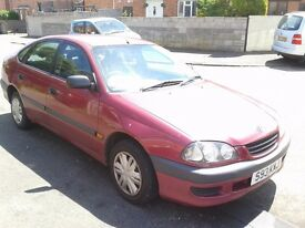 1998 Toyota Avensis S, 1.6, 5 doors. MOT till August. Car still serving. (Spare or Repairs).