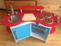 Children's Melissa and Doug corner wooden kitchen