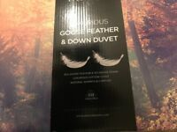 Nimbus Goose Feather & Down Double Duvet - Brand new