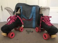 Bauer Turbo 33 Size 7 and 'speed roller' skates size 6