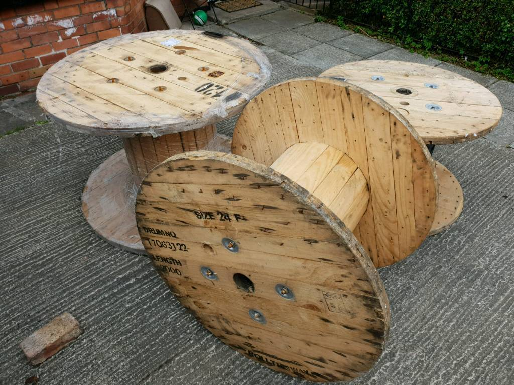 Cable reels d i y tables drums chair garden