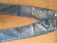 2 Pr men's jeans size W 32 x L 32 Jack Wills Black Pr & 1 Pr Holister blue
