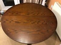Old Charm Solid Oak Dining Table. Extending