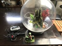 30 litre round BiOrb fish tank, accessories and stand