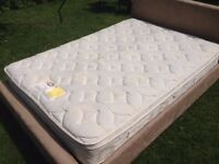 Silent Night Queen Size Miracoil Mattress with a cushion top Nearly New
